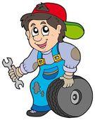 Car mechanic — Stock Vector