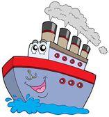 Cartoon boat — Stock Vector
