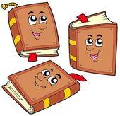 Kreskówka książek w różnych pozycjach — Wektor stockowy