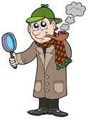 Cartoon detective — Stock Vector