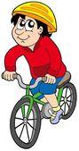 Cartoon cyclist — Stock Vector
