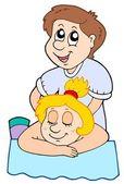 Cartoon massage — Stock Vector