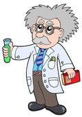 Cartoon scientist - — Stockvektor