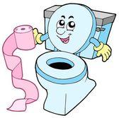 Kreskówka wc — Wektor stockowy