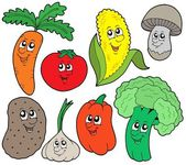 Cartoon vegetable collection 1 — Stock Vector