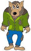Cartoon werewolf — Stock Vector