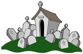 Cemetery with tomb — Stock Vector
