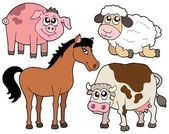 Country animals collection 2 — Stock Vector