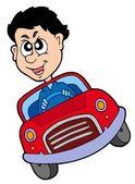Crazy car driver — Stock Vector