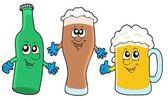 Roztomilý pivo kolekce — Stock vektor