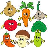 Cute cartoon vegetable collection — Stock Vector
