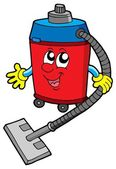 Cute vacuum cleaner — Vector de stock