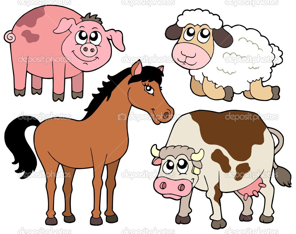 Country animals collection 2 - vector illustration. — Stock Vector #2148670