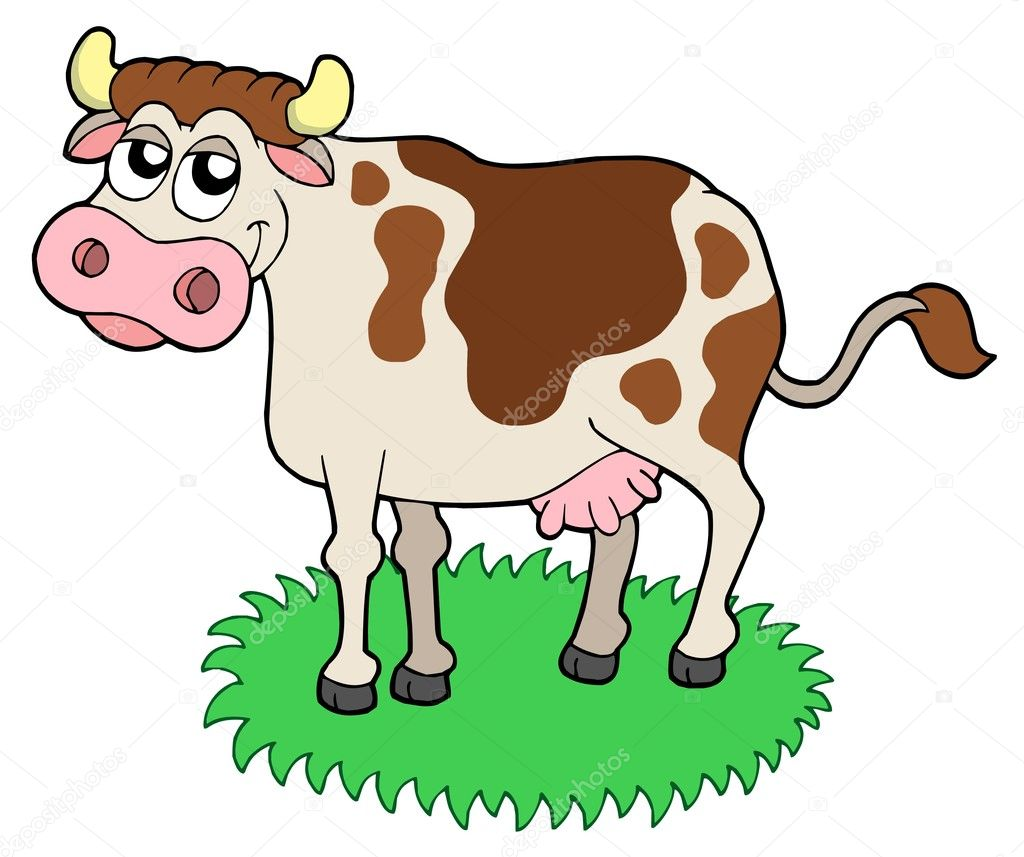 Cute cow - vector illustration.  Stock Vector #2149016