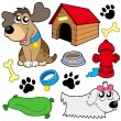 Stock Vector: Dog pictures collection