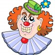 Stock Vector: Evil clowns head