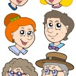 Royalty-Free Stock Vectorafbeeldingen: Family faces collection