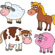 Farm animals collection — Imagen vectorial
