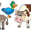 Stock Vector: Farm animals collection 3