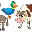 Farm animals collection 3 — Stock Vector