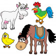 Stock Vector: Farm animals collection 2