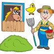 Royalty-Free Stock Vector Image: Farmer collection