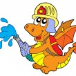 Fireman dragon — Stock Vector
