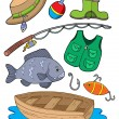Fishing equipment — Stock Vector