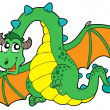 Flying green dragon — Stock Vector #2201381