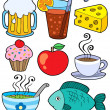 Food and drink collection 1 — Stock Vector #2201393