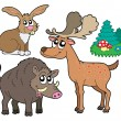 Royalty-Free Stock Vector Image: Forest animals collection 1
