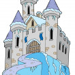 Vector de stock : Frozen castle