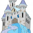 Stock Vector: Frozen castle