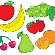 Royalty-Free Stock Vector Image: Fruit collection 1