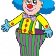 Funny clown in big pants — Image vectorielle