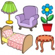 Royalty-Free Stock Vector Image: Furniture collection 1
