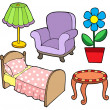 Furniture collection 1 - Stock Vector
