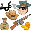 Gangster collection — Stock Vector