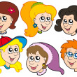 Girls faces collection — Stock Vector #2201669