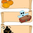 Royalty-Free Stock 矢量图片: Halloween banners collection 2