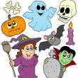 Stock Vector: Halloween cartoons collection