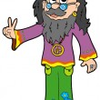 Hippie guru - Stock Vector