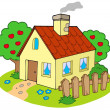 House with garden - Stock Vector