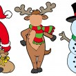 Royalty-Free Stock Vector Image: Christmas characters without face