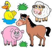 Farm animals collection 5 — Stock Vector