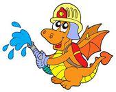 Fireman dragon — Stock Vector
