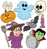 Halloween cartoons collection — Stock Vector