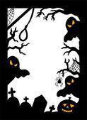 Halloween silhouette frame — Stock Vector
