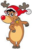 Weihnachten rentier — Stockvektor