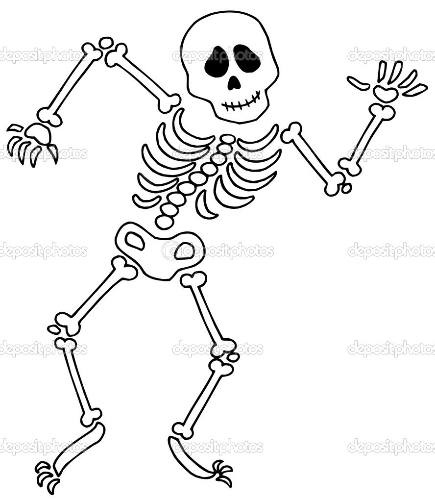 free coloring pages of dancing skeletons